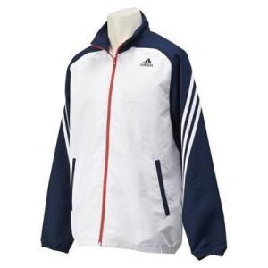 adidasアディダス M ESS(エッセンシャル)3S STクロスジャケット Lサイズ KAY99 (S91145) ホワイト/カレッジネイビー