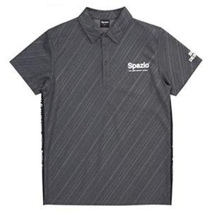 Spazio(スパッツィオ) ダイアゴナル ストライプ エンボス ポロシャツ Mサイズ TP-053...