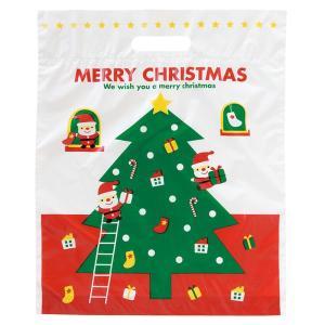 クリスマスプレゼント用クリスマスバッグ、L、持ち手部あり、(...
