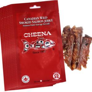 スモーク サーモン ジャーキー 30g カナダ お土産 食品 7本前後 「 10袋 激安 セット 」
