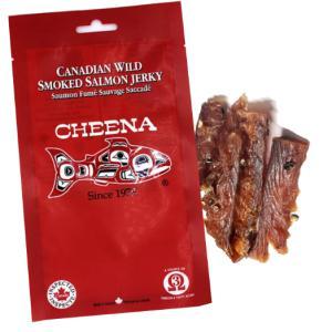 スモーク サーモンジャーキー 30g カナダ土産 スキーナ川 鮭の燻製 最高級品が激安 7本前後入り おみやげ|canadaspirits