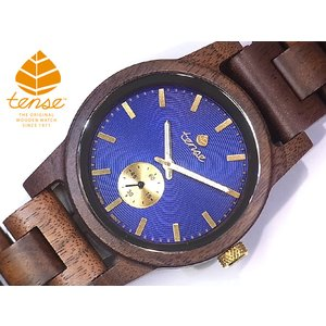 カナダ製 Tense ウッドウォッチ 木製 腕時計 メンズ 日本製ムーブメント 安心の国内メンテナンス対応 canadianselect