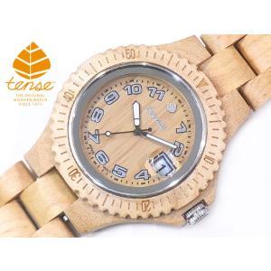 カナダ製 Tense ウッドウォッチ 木製腕時計 メンズ 日本製ムーブメント 安心の国内メンテナンス対応 日付機能付|canadianselect
