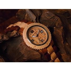カナダ製 tense ウッドウォッチ 木製 腕時計 メンズ 日本製ムーブメント 安心の国内メンテナンス対応 日付機能付|canadianselect|02