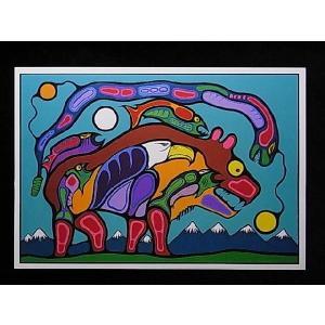 【オジブワ族(ojibway族)デザインポストカード】Garfinkel Publications社