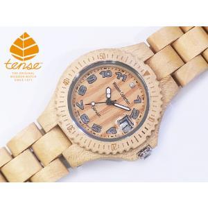 カナダ製 Tense ウッドウォッチ 木製 腕時計 レディース メンズ 日本製ムーブメント 安心の国内メンテナンス対応 日付機能付|canadianselect