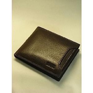 【牛革二つ折り財布・メンズ】取り外しOKのカード入れが外側に付いたニュータイプ canadianselect