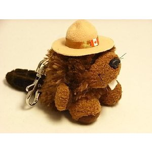 【RCMPビーバーぬいぐるみキーチェーン】Stuffed Animal House社|canadianselect
