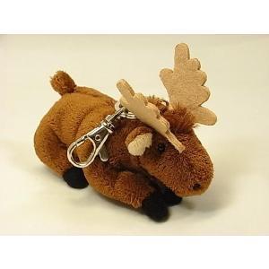 【お座りムースぬいぐるみキーチェーン】Stuffed Animal House社|canadianselect