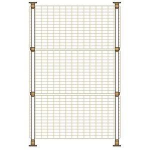突っ張り棒式で高さの調節も可能です。(高さ850〜1400mm) 窓のサイズに合わせてネットはタテ・...