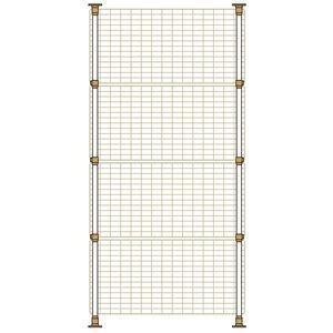 突っ張り棒式で高さの調節も可能です。(高さ1400〜2200mm) 窓のサイズに合わせてネットはタテ...