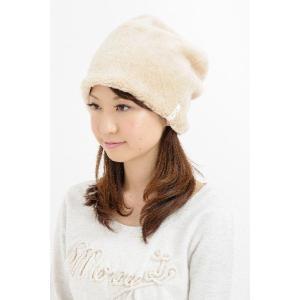 防寒用帽子 オーガニックコットンボアワッチ 無染色 2色展開 あったかシリーズ 日本製 SIGN Flabel NOC認定商品|canalsigncom