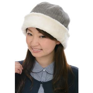 帽子 オーガニックコットンウール混へリンボーンボアワッチ 2色展開 SIGN FLABEL NOC日本オーガニックコットン流通機構認定商品|canalsigncom