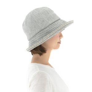 ハット  中折れ帽子 オーガニックコットン麻混紡 サイズ調整付き SIGN FLABEL canalsigncom