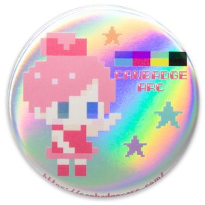 白ホログラムタイプ缶バッジ(プレーン)|canbadge-arc