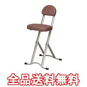 高さ調節 チェア ブラウン | 折りたたみ 椅子 軽量 持ち運び キッチン カウンター パソコンチェアー 折り畳み 折畳み 無断階 調整 NK-017(BR)|cancamp