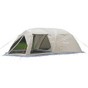 前面にリビングスペースを装備したツールームドームテント モンテ スクリーンツールームドームテント 5〜6人用 UA-44|cancamp