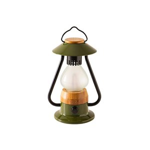 LED アンティークランタン グリーン KOLT-004G|cancamp