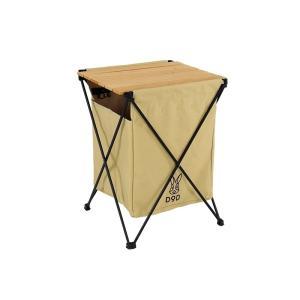 ゴミを見えなくするゴミ箱兼テーブル ステルスエックス タン | 屋外 おしゃれ 大容量 テーブル ゴミ箱 おしゃれキャンプ GM1-450-TN|cancamp