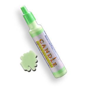 キャンドル デコペイント 蛍光グリーン candle21