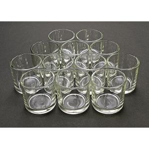 キャンドル用ガラスコップ 12個セット【ジェルキャンドル ゼリーキャンドル キャンドルグラス】