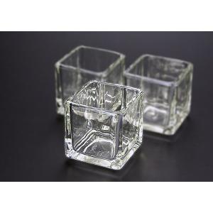 キャンドル用グラス キューブS 12個セット【ジェルキャンドル ゼリーキャンドル キャンドルグラス】|candle21