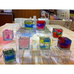 キャンドル用グラス キューブS 単品 【ジェルキャンドル ゼリーキャンドル キャンドルグラス】|candle21|02