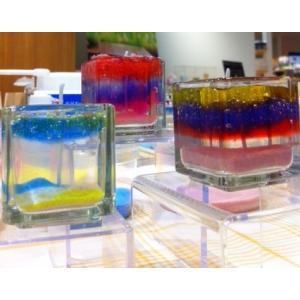 キャンドル用グラス キューブS 単品 【ジェルキャンドル ゼリーキャンドル キャンドルグラス】|candle21|03