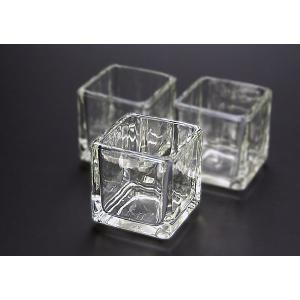 キャンドル用グラス キューブS 96個セット【ジェルキャンドル ゼリーキャンドル キャンドルグラス】|candle21