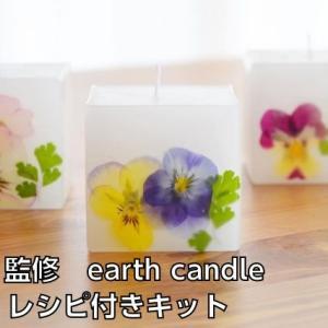 ボタニカルキャンドルキット earth candle監修 秘伝のレシピ付き パラフィンワックス