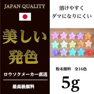 お試し用 粉末顔料 人気の16色 5g【キャンドル 材料 カラー 顔料 着色】