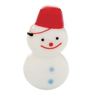 ジェルキャンドル ガラス細工 雪だるま 小 クリスマス