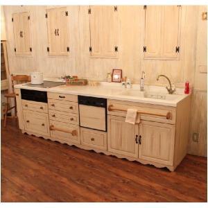 キッチン ナチュラル オーダー 手作り カントリー COUNTRY・KITCHEN11 2700×650 rfm ktn|candoll-2014