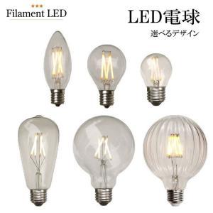 LED電球 シャンデリア E12 E17 電球色  シャンデリア フィラメント型LED filamentled|candoll-2014