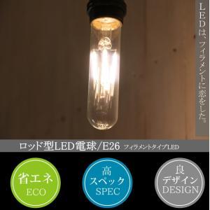 ロッド型LED電球  E26 電球色  フィラメント型LED filamentled candoll-2014