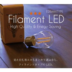 LED電球 ミニレトロ球  E26 電球色  シャンデリア フィラメント型LED filamentled candoll-2014