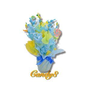 キャンディブーケ キャンディ8 水色アレンジ 誕生日 結婚式 candy-8