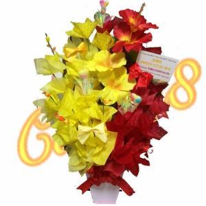 キャンディブーケ キャンディ8 ハイビスカス アレンジ 誕生日 白 お祝い キャンディフラワー Candy8  花 フラワーアレンジ 特別 candy-8