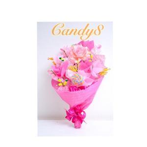 キャンディブーケ candy8 Rose Pink ピンク花束 結婚式 プレゼント|candy-8