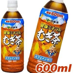 伊藤園 健康ミネラルむぎ茶 600mlPET×24本 (送料無料) 麦茶 ペットボトル 増量 お茶|candy