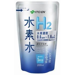 伊藤園 水素水 アルミパウチ 200ml×14個入り 濃度水素水 弱アルカリ性 軟水 水素水|candy