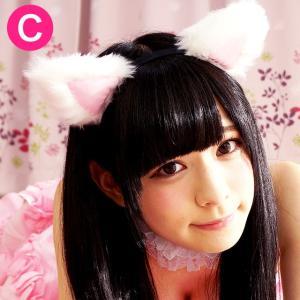 ネコ耳カチューシャ(ホワイト)【猫耳ねこみみネコ耳】 candyfruit-maid