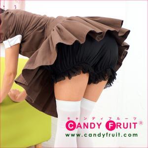 メイド服の必需品♪カボチャパンツ(ブラック)【メイド服にはかぼちゃパンツ♪ドロワーズ・黒】【送料無料】 candyfruit-maid