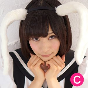 ウサ耳カチューシャ(ホワイト)【猫耳ねこみみネコ耳】白 candyfruit-maid