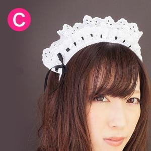 キャンフルオリジナルのカチューシャ♪安心の日本製♪ローズレースカチューシャ candyfruit-maid