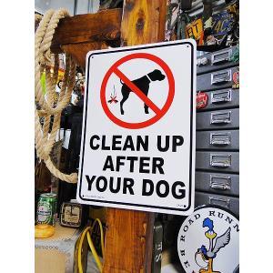 アメリカのプラスチックサインボード ヘビーオンスタイプ(犬のマナーは守りましょう) アメリカ雑貨 ア...