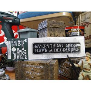 ことわざステンシル転写ステッカー(何事もまず始めなければならぬ) アメリカ雑貨 アメリカン雑貨 車 シール ブランド おもしろ グッズ|candytower