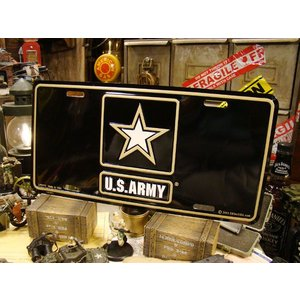 U.S.アーミーのライセンスプレート(現行ロゴ) アメリカ雑貨 アメリカン インテリア 壁飾り おしゃれな雑貨屋さん 通販 人気 ミリタリー|candytower