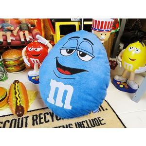 m&m'sクッション(ブルー) アメリカ雑貨 アメリカン雑貨