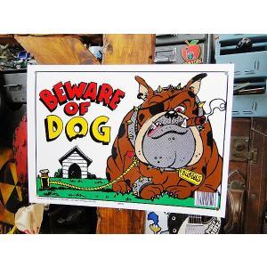 アメリカのプラスチックサインボード ヘビーオンスタイプ(犬に注意) アメリカ雑貨 アメリカン雑貨|candytower